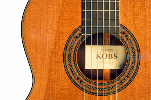 Carsten Kobs guitare classique luthier double-table