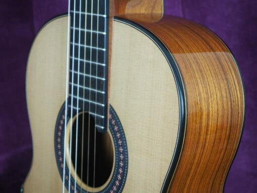 Guitare classique luthier Robin Moyes barrage radial à vendre www.guitare-classique-concert.fr