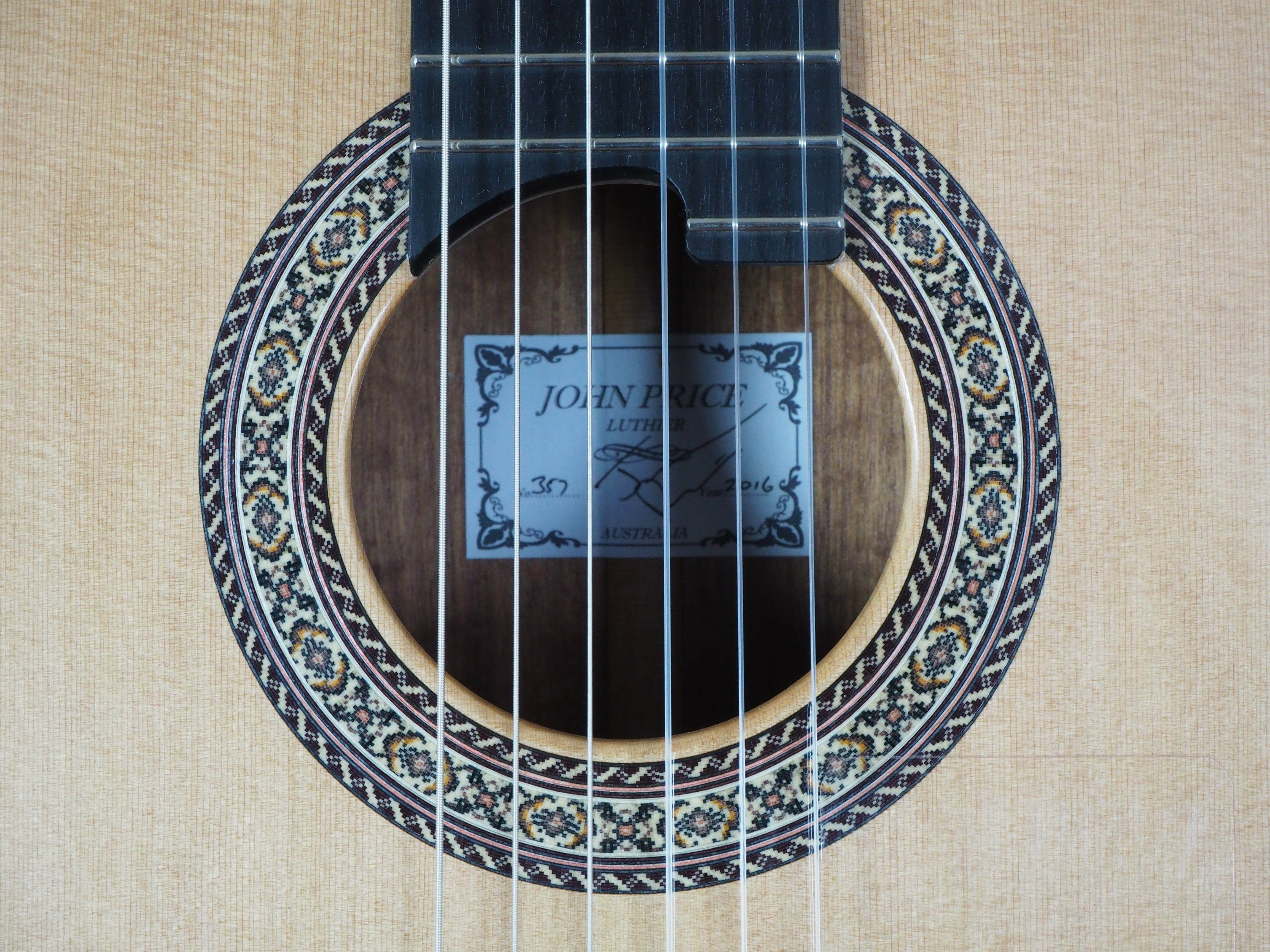 John Price guitare classique luthier lattice