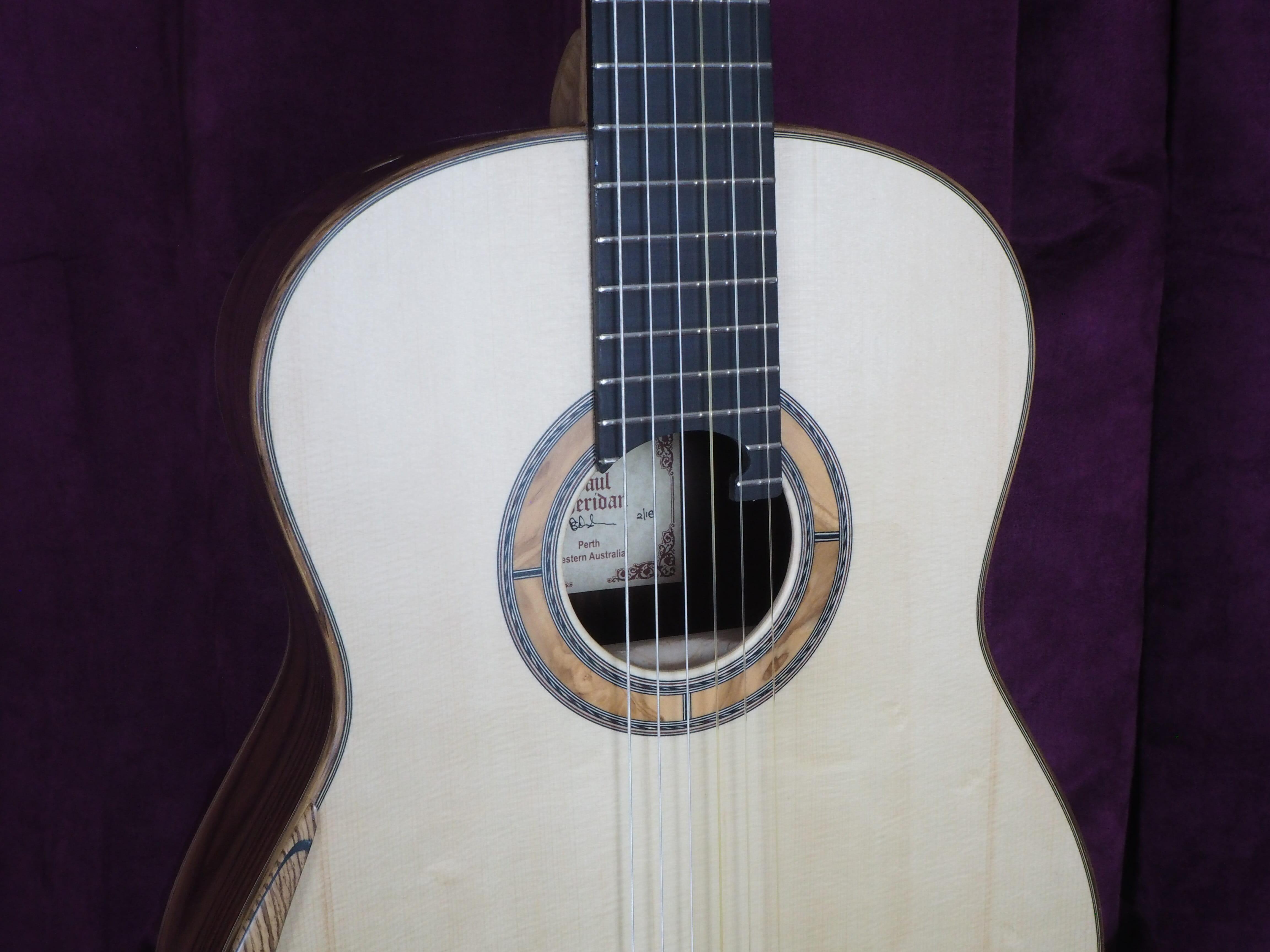 Paul sheridan guitare classique luthier lattice