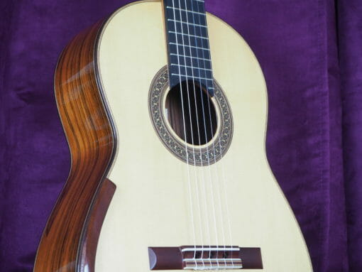 Jim Redgate guitare classique luthier lattice face