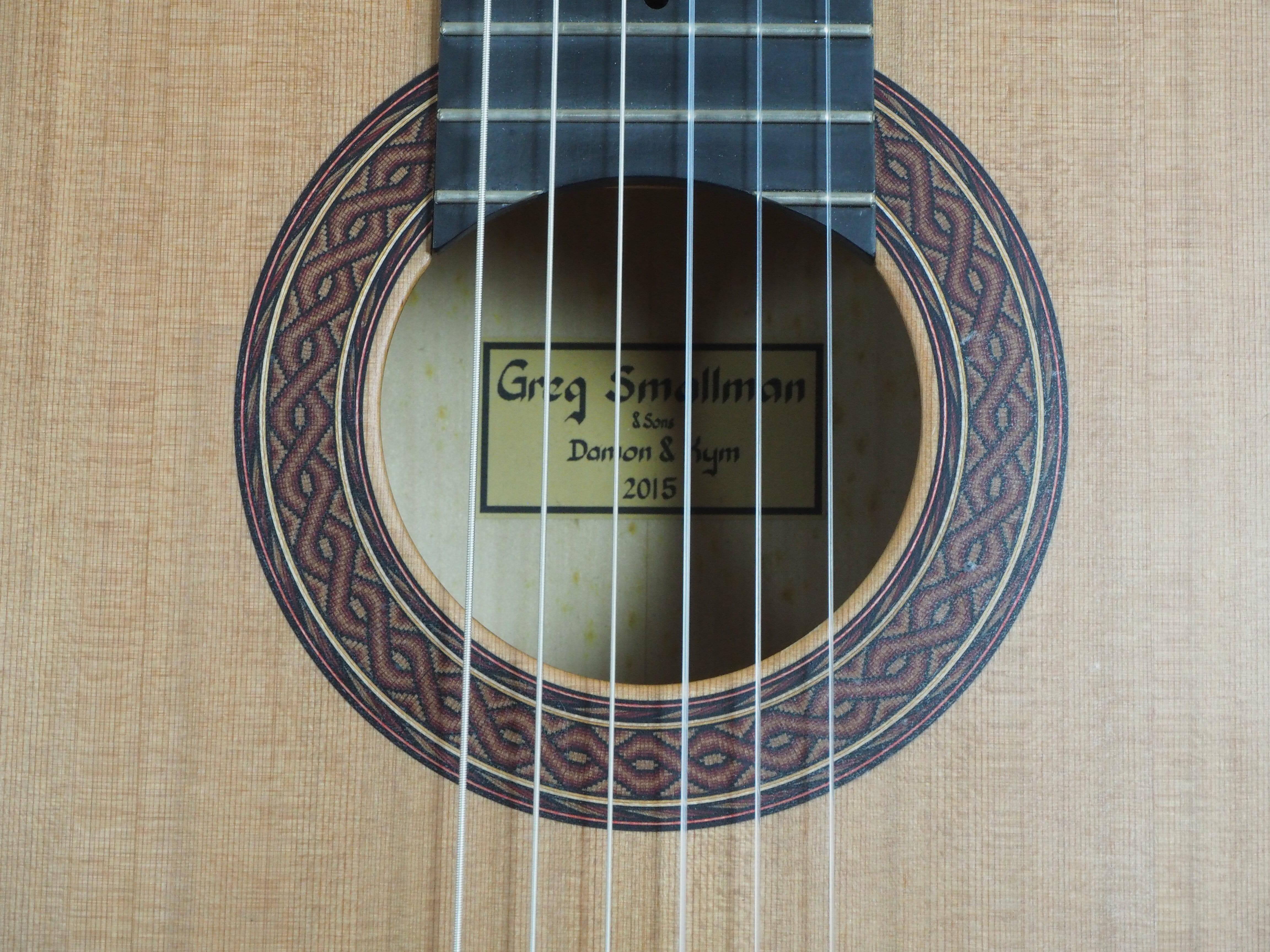 Greg Smallman & sons 2015 guitare classique de concert barrage lattice