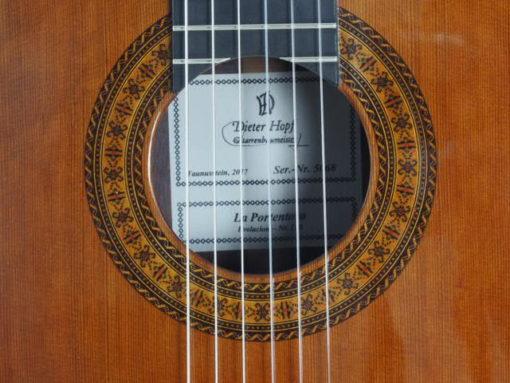 Guitare classique Portentosa Evolucion luthier Dieter hopf
