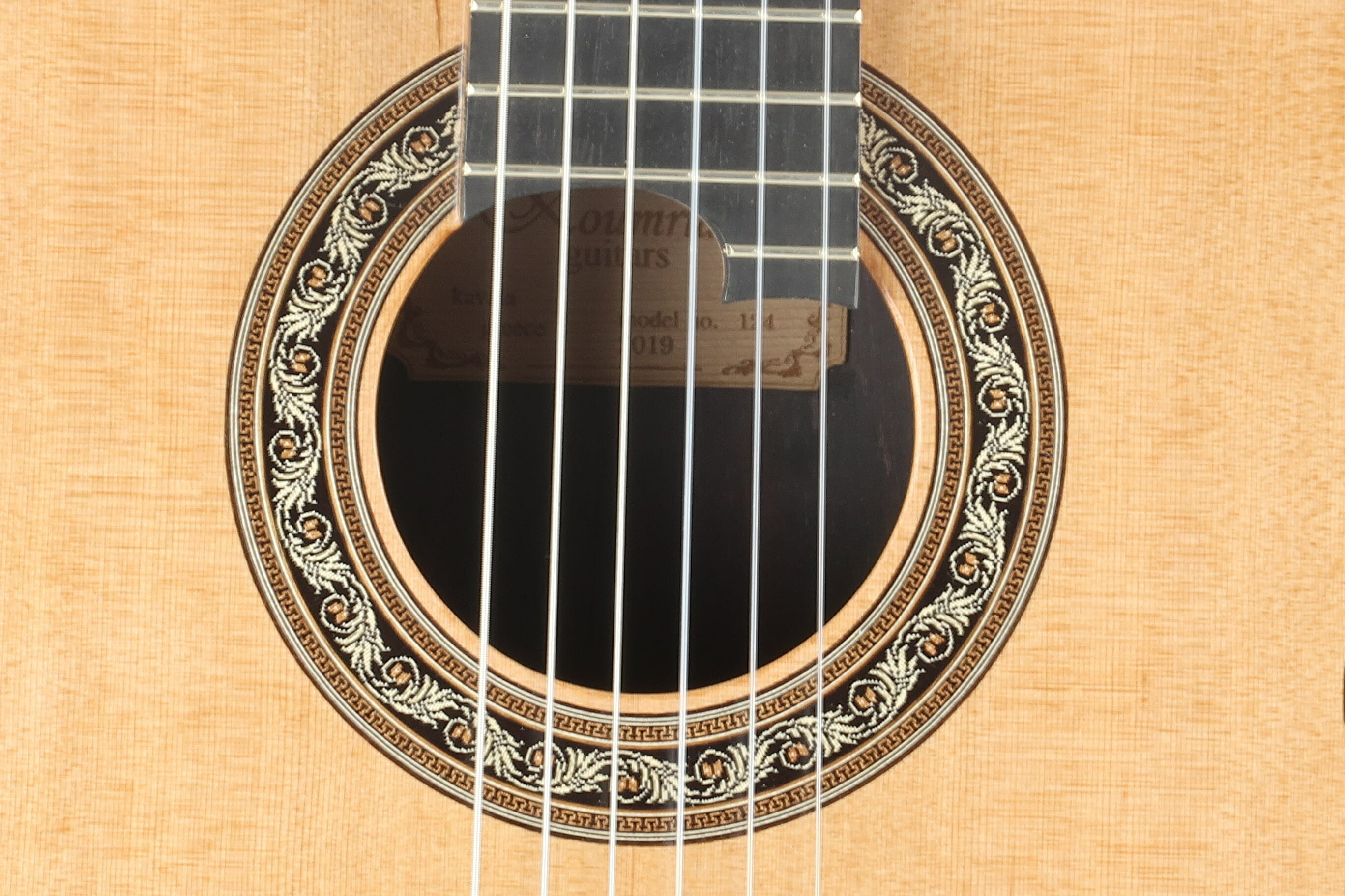 Guitare classique luthier Charalampos Koumridis barrage lattice No 124 19KOU124-09