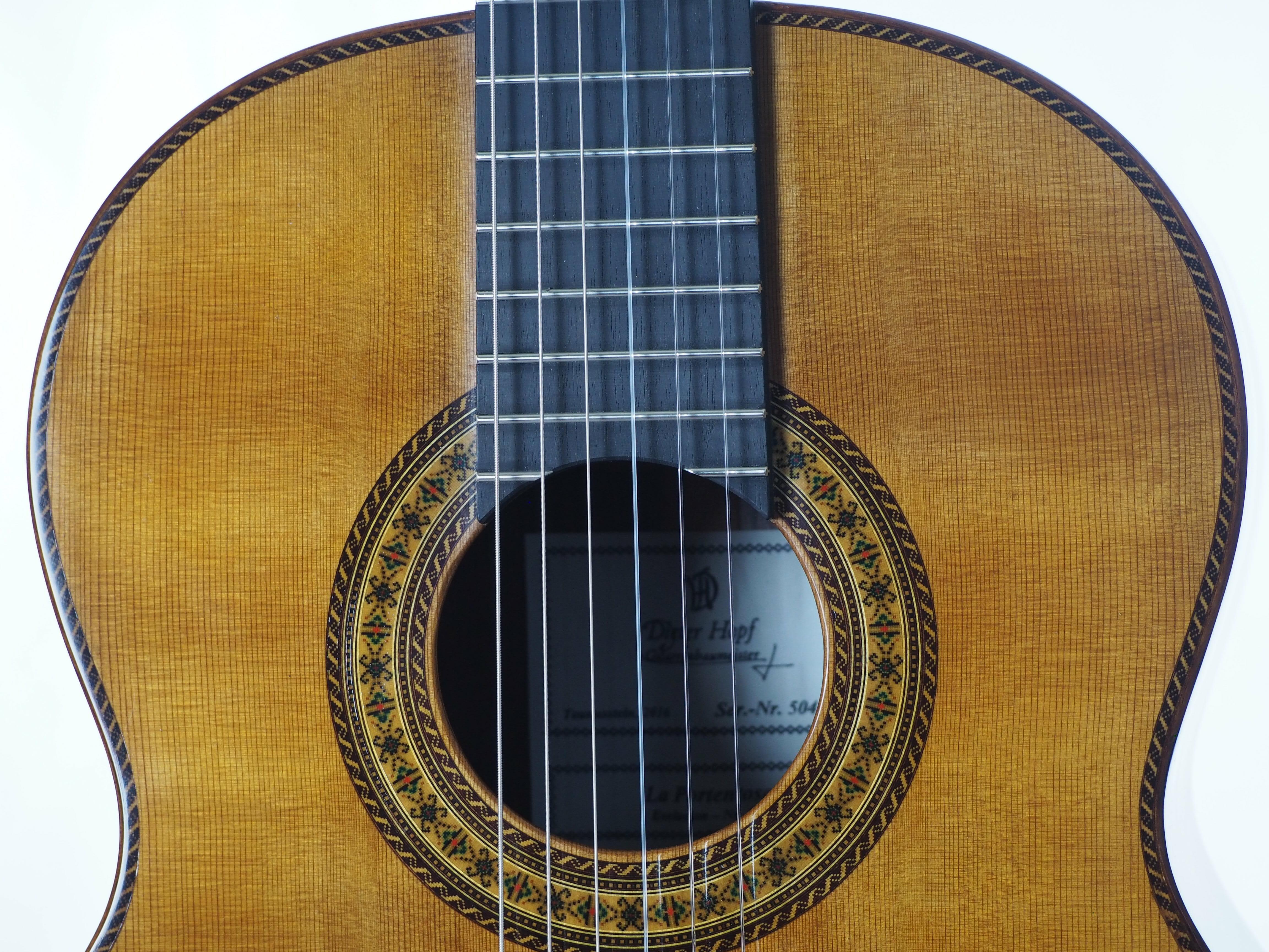Dieter Hopf Portentosa evolucion 5043 guitare classique luthier lattice