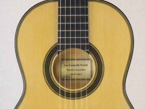 Guitare classique luthier Dominik Wurth copie Antonio Torres 19WUR016-03