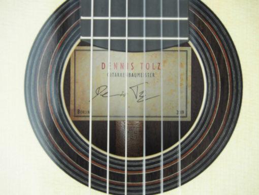 luthier Dennis Tolz double-table Guitare classique www.guitare-classique-concert.fr 19TOL019-10