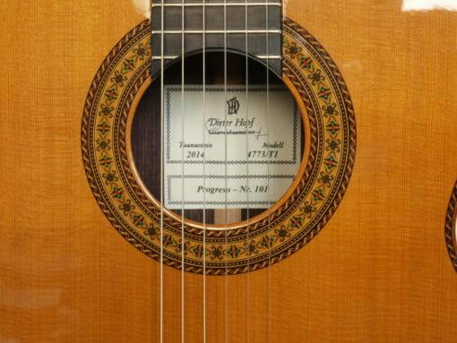 guitare classique Dieter hopf double-table Progresso
