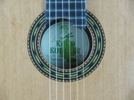 Luthier Keijo Korelin guitare classique double-table 17KOR093-02