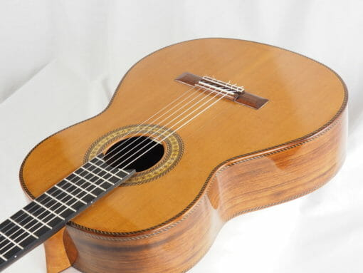Luthier Dieter Hopf guitare classique Portentosa Evolucion barrage lattice