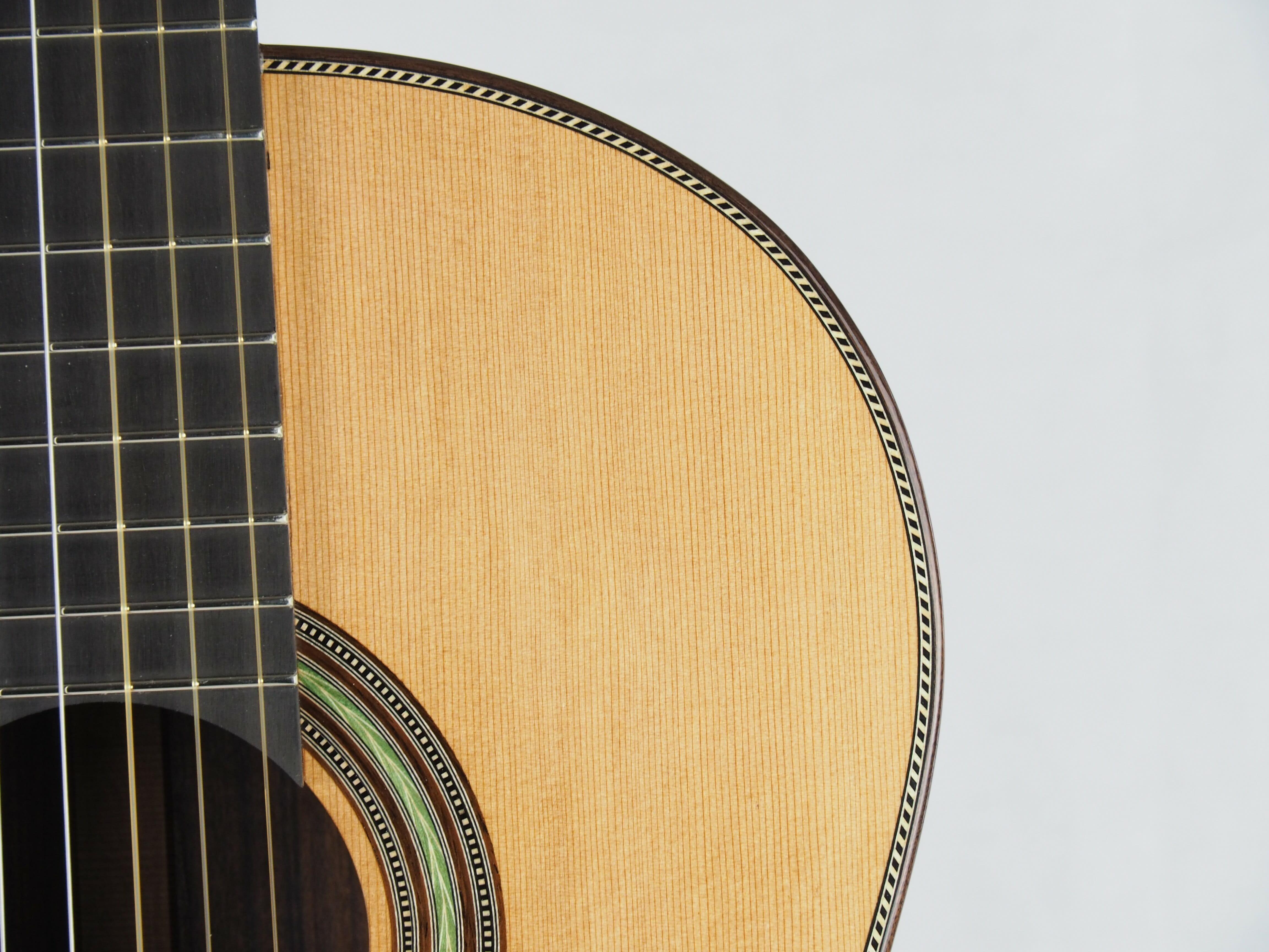 Luthier stanislaw Partyka guitare classique barrage lattice