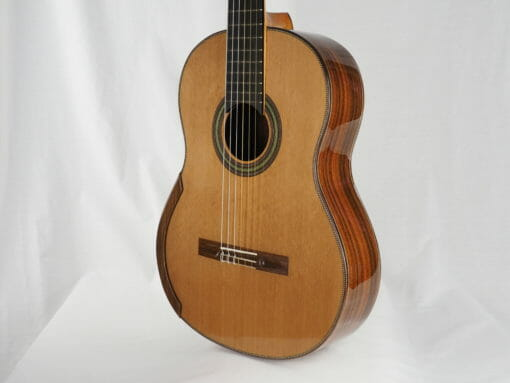 Luthier stanislaw Partyka guitare classique barrage lattice