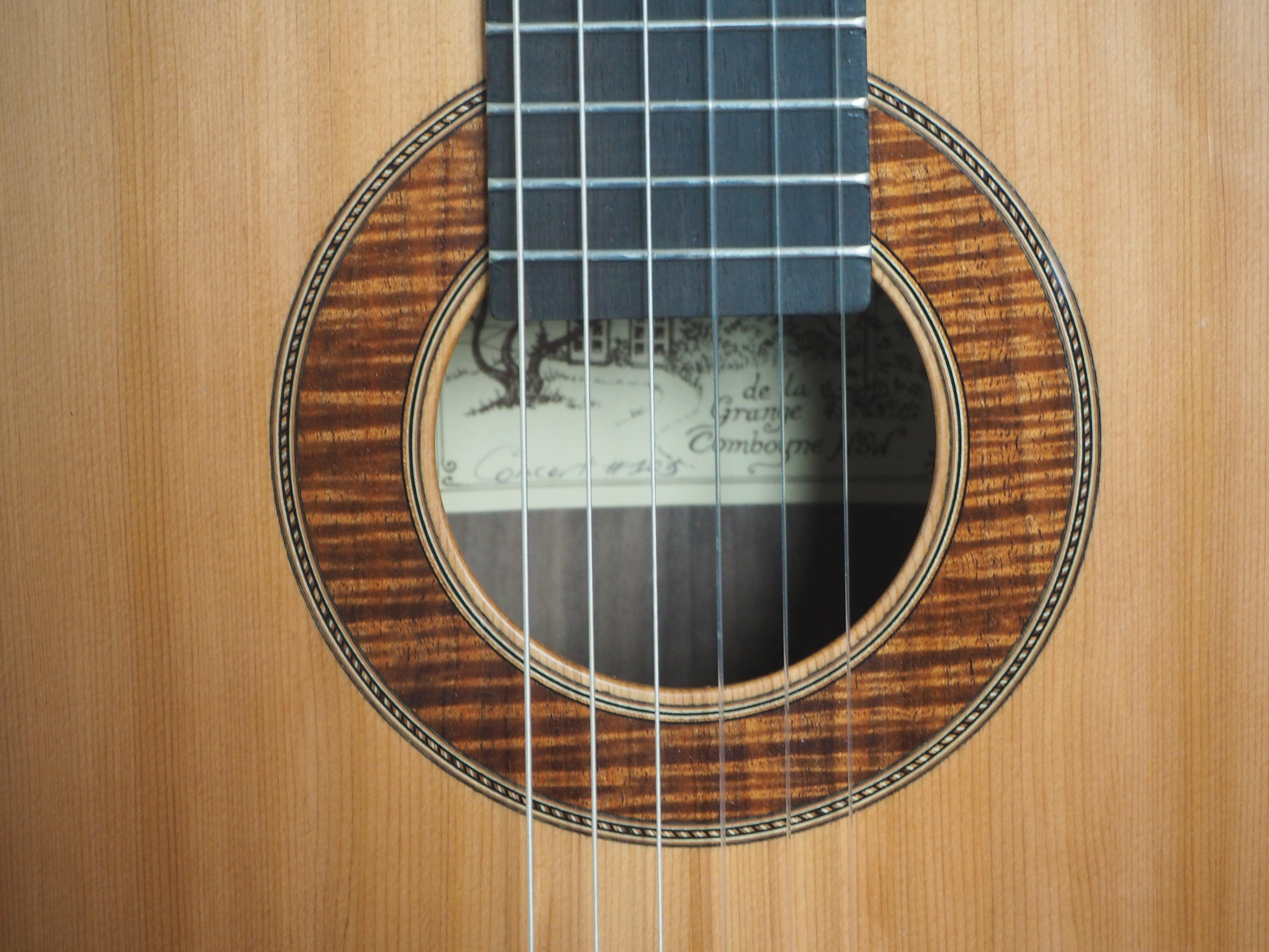 guitare classique du luthier Graham Caldersmith n°101 modèle concert
