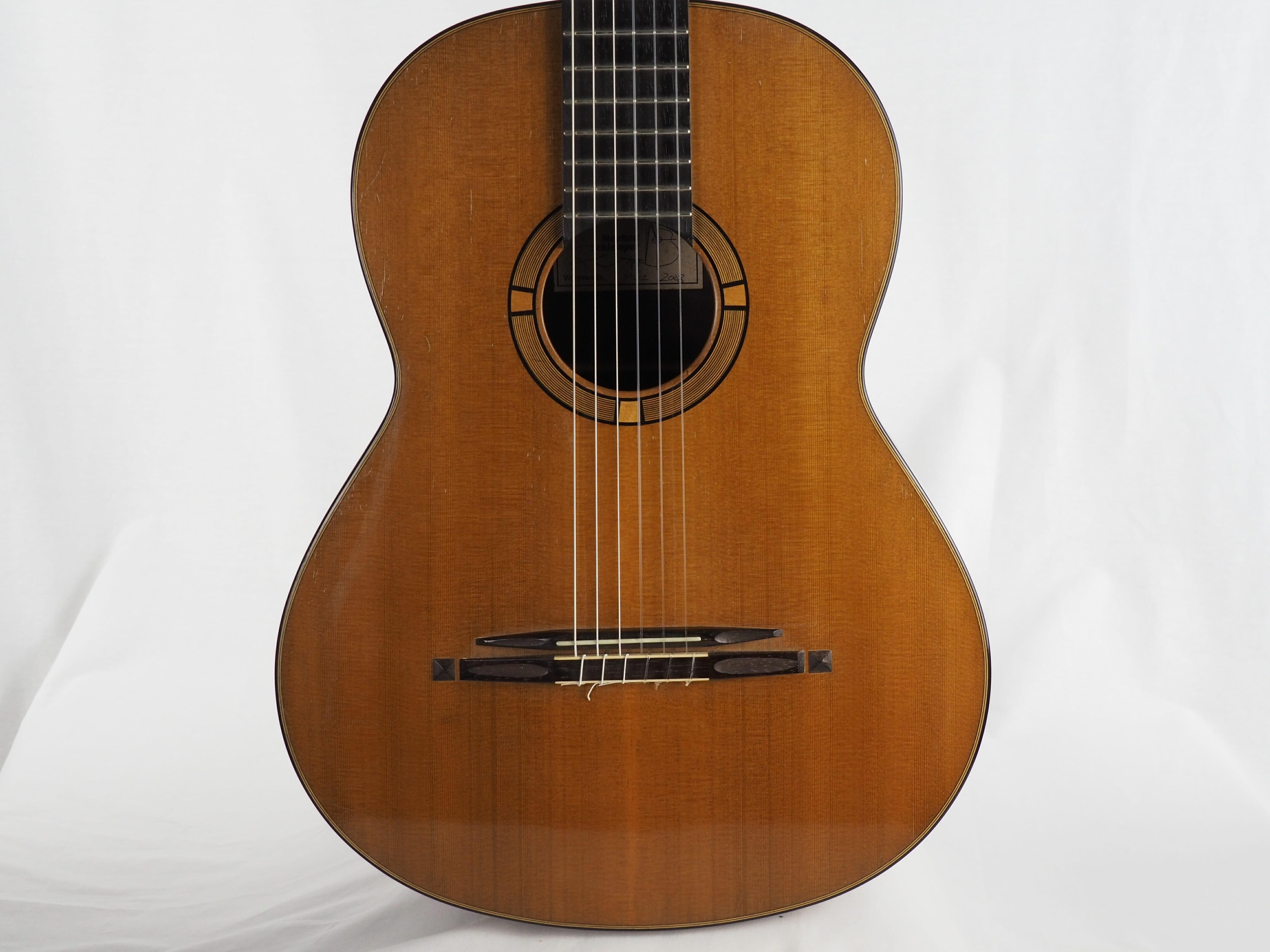 luthier stephan schlemper guitare classique ebanista 2008 guitare classique de concert. Black Bedroom Furniture Sets. Home Design Ideas