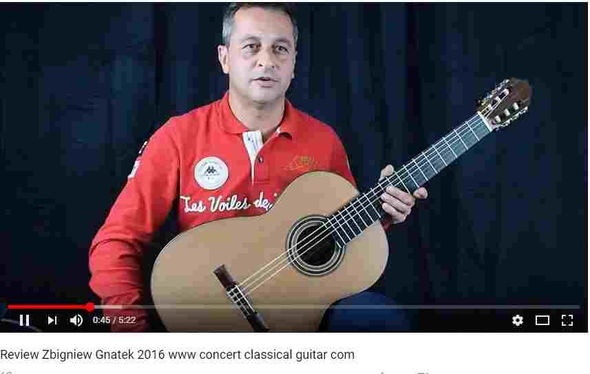 guitare classique du luthier Gnatek à vendre www.guitare-classique-concert.fr