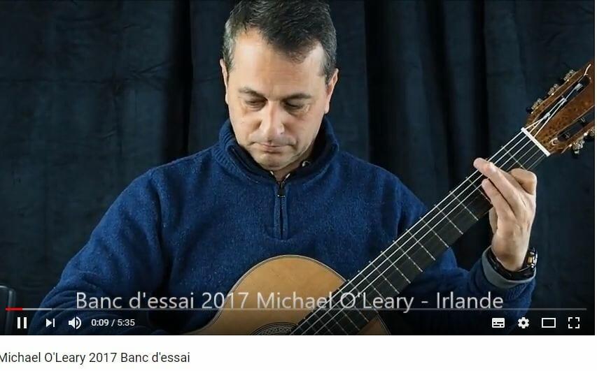 demo jouée par Philippe Mariotti de la guitare classique du luthier Michael O'Leary à vendre