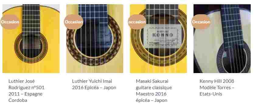 guitare classique à vendre d'occasion