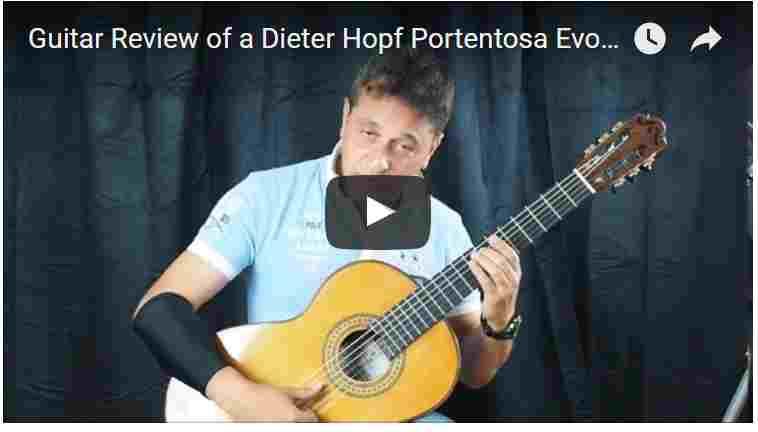 video banc dessai de la guitare classique du luthier dieter hopf portentosa