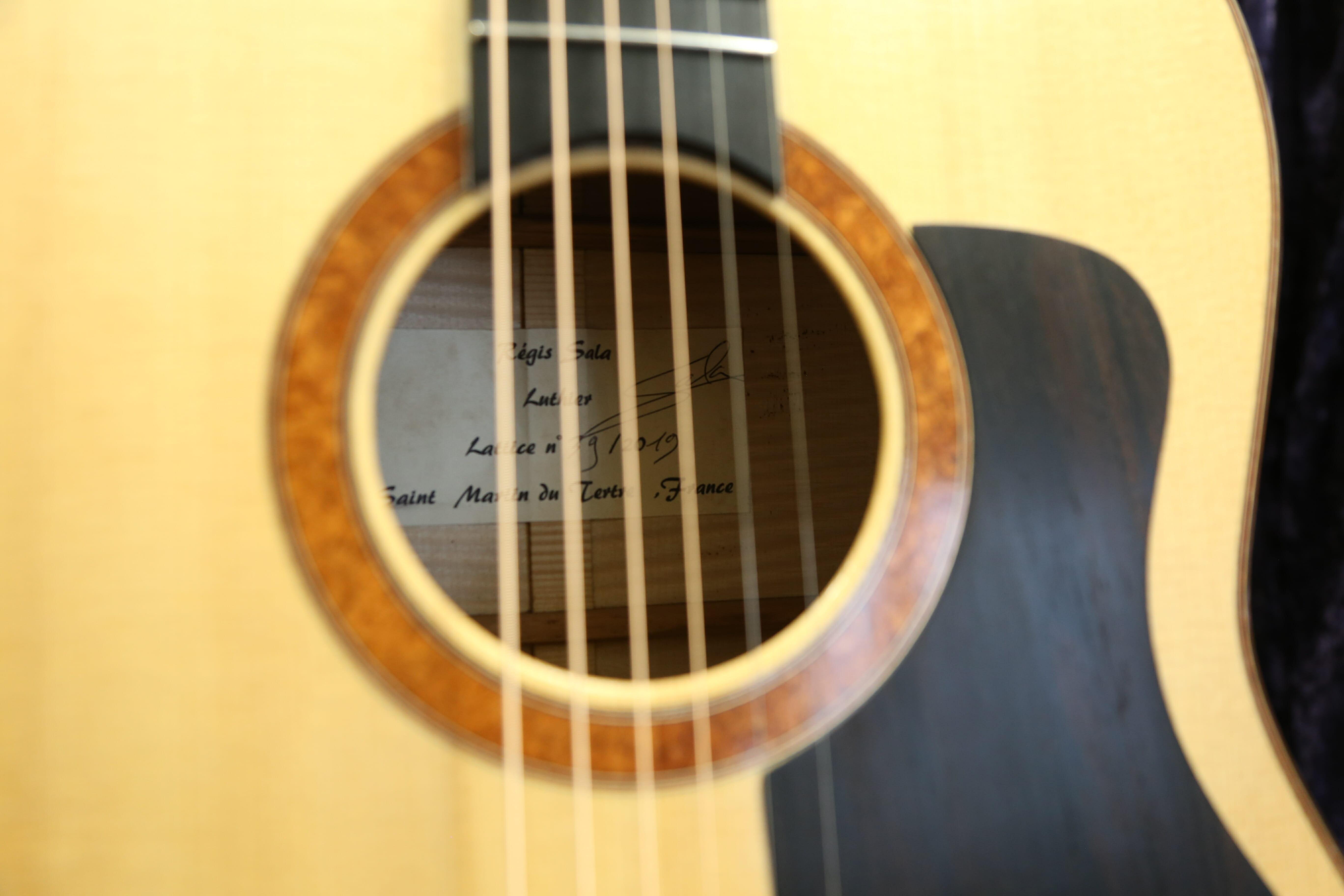 Luthier Régis Sala guitare acoustique 19SALSTE-01