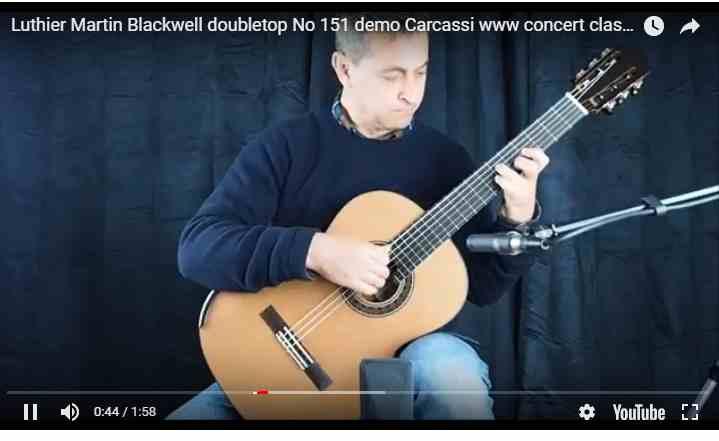 guitare classique à vendre de Martin Blackwell n°151 disponible www.guitare-classique-concert.fr