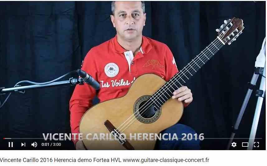 guitare classique du luthier vicente Carillo Herencia