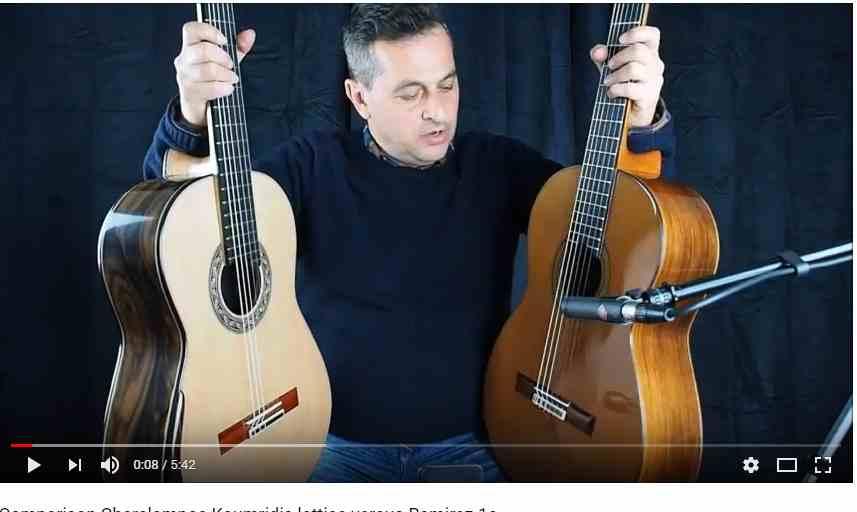 comparaison de guitares classiques jose ramirez 1a contre lattice Koumridis puor www.guitare-classique-concert.fr