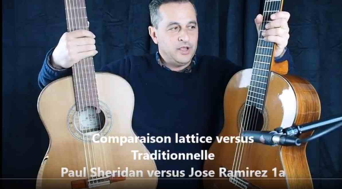 comparaison de guitares classiques de luthier à vendre Paul sheridan contre jose ramirez 1a