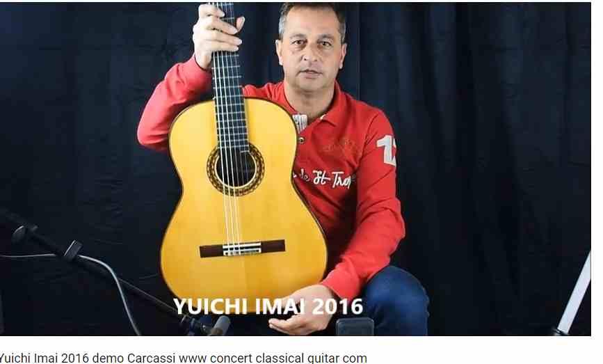 guitare classique du luthier Imai pour le site www.guitare-classique-concert.fr jouée par Philippe Mariotti
