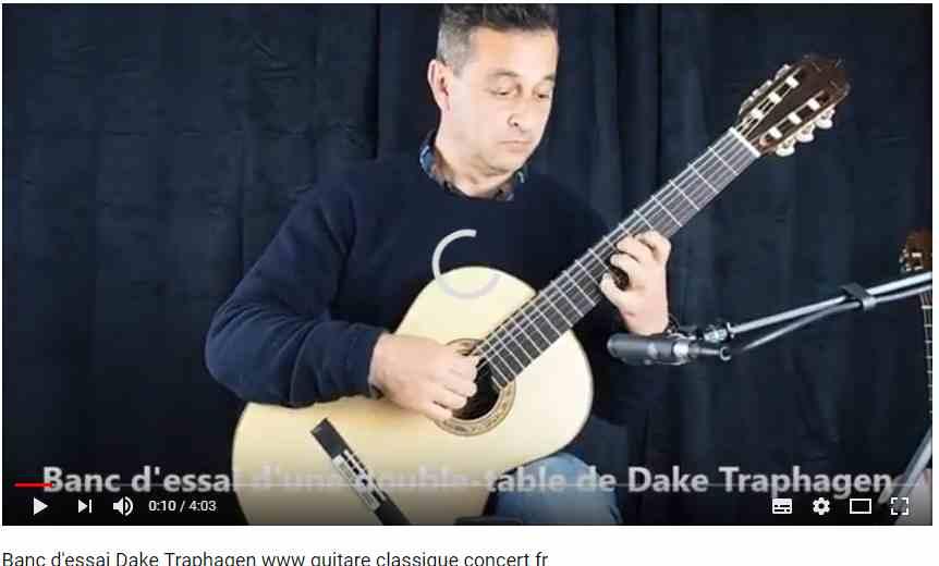 guitare classique du luthier dake traphagen testée par Philippe mariotti pour www.guitare-classique-concert.fr